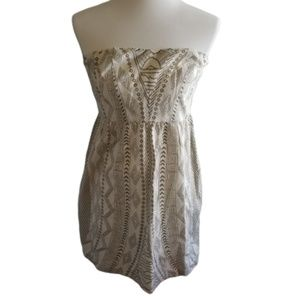 || STARING AT STARS || Ivory Strapless Mini Dress